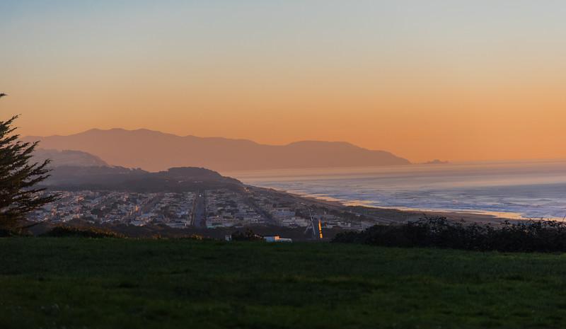 San Francisco Oceanfront at sunset