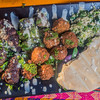 Falafel with Lamb Kebabs