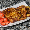 French Toast made with fresh cinnamon swirl brioche