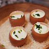 L Arpege Eggs with cream and chive
