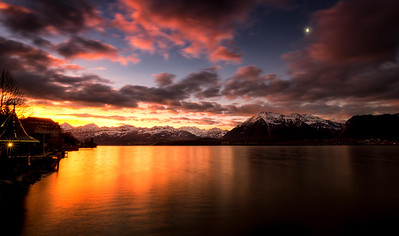 Sunrise at Lake Thun