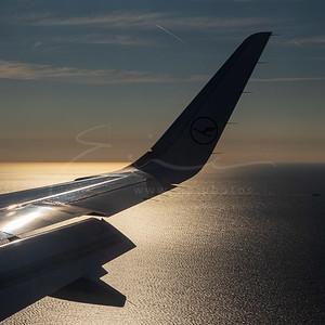 l'approche au-dessus de la mer   approach over the sea