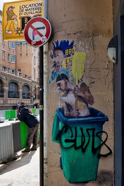 graffiti à la rue de Charonne