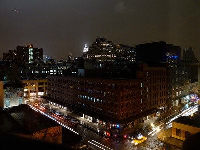 Meatpacking district, Port Authority building, and Empire State Building from The Standard hotel