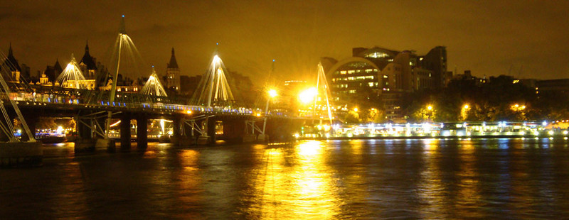 Charing Cross Bridge landscape London 2009