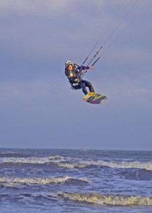 Kitesurfer Devon UK 2009