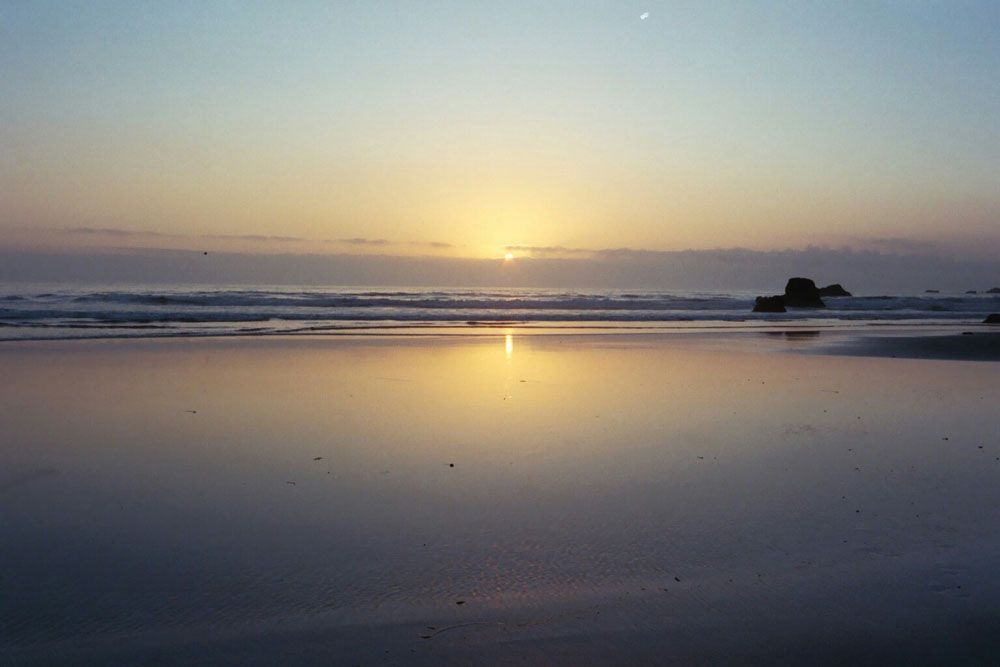 Beach sunset Oregon 2003