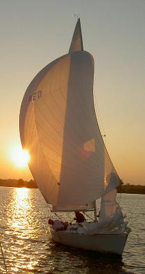 Sunset yacht Netherlands 2004