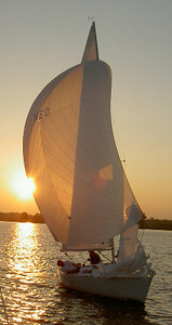 Sunset yacht Netherlands 2004