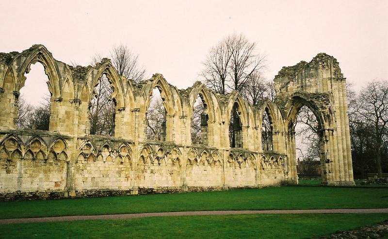 Ruined Abbey Yorkshire UK 2004