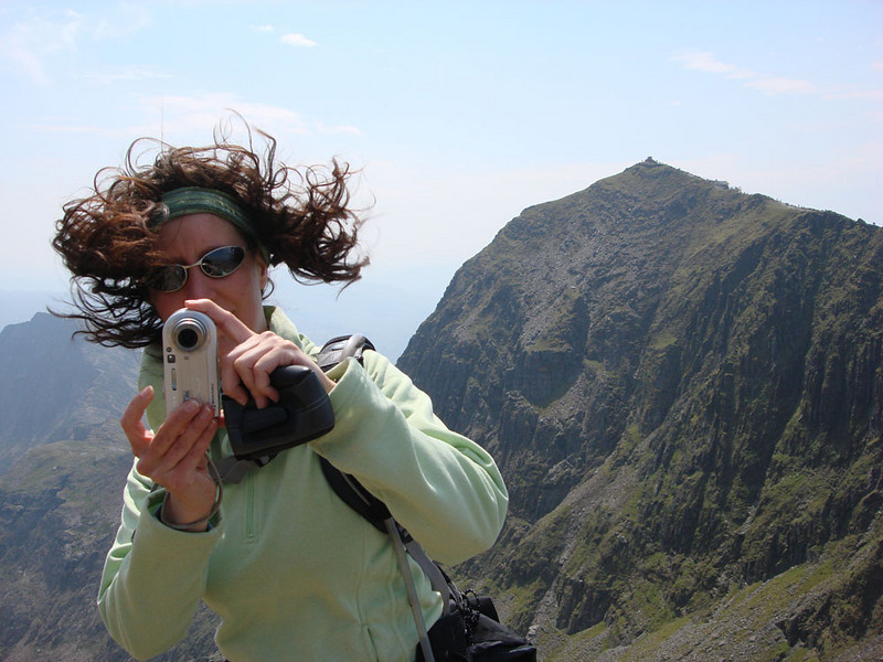 In 2008 we climbed Mt Snowdon - Wales' highest peak, shown behind Jasmijn here - again. I've now summited it four times. The Snowdon Horseshoe takes in four other peaks surrounding some stunning alpine lakes, and is the most beautiful ridge walk in the British Isles.