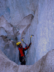In 2009 I signed onto a course to climb Mt Blanc - Europe's highest summit, at 4,807 m. Day one involved ice climbing on the Mer de Glace glacier.