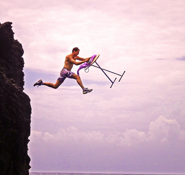 Extreme ironing, St Kitts, 2014