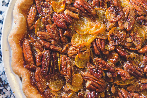 kumquat pecan pie