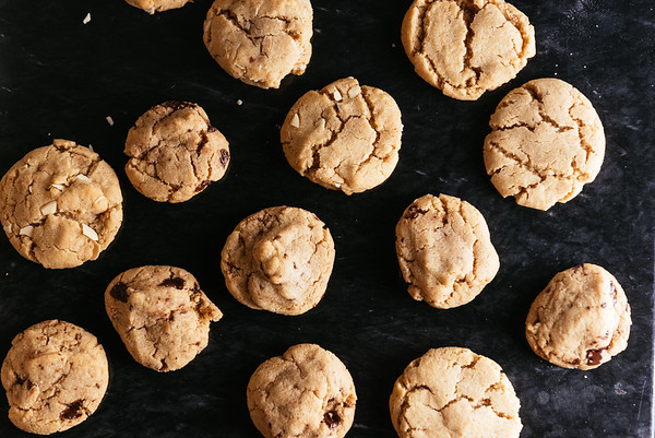 hazelnut cookies with coconut and chocolate variations