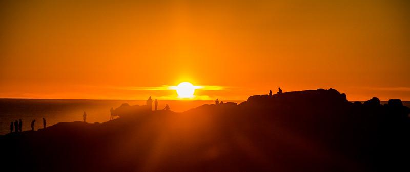 California costal sunset