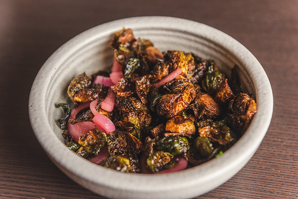 Brussels sprouts with pickled onions and lemon