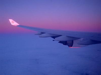 Flying at dawn Indian Ocean 2009