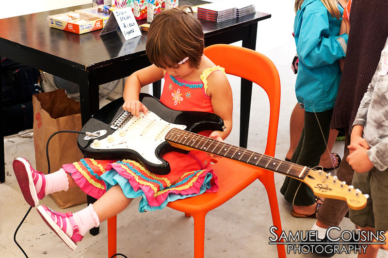 Instrument Petting Zoo  The <i>Kids are Alright</i> series was held at Space Gallery, in partnership with the Portland Music Foundation and the Maine Academy of Modern Music (MAMM).