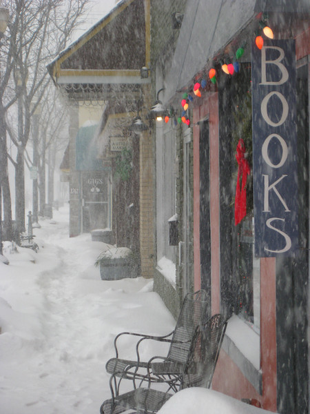 Antique Row in the Snow II - Kensington Maryland