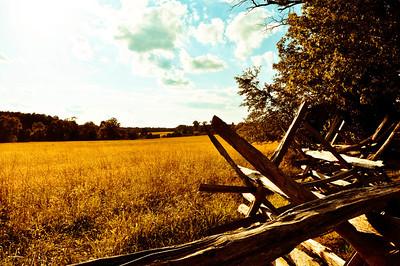Fence and Field - Bull Run Virginia