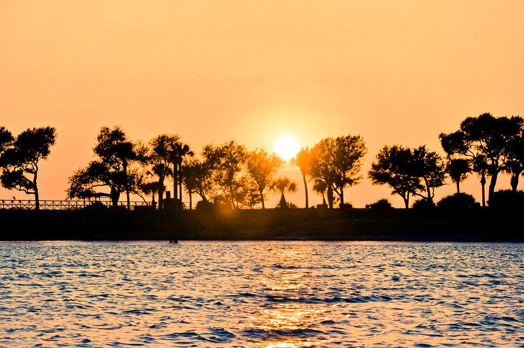 Setting sun - Hilton Head Island South Carolina