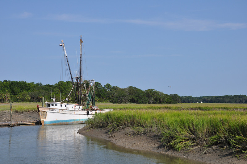 Weathered Shrimp Boat - Hilton Head Island South Carolina