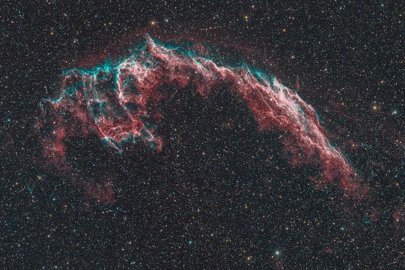NGC6992   The Eastern Veil nebula (H-alpha / OIII / RGB)