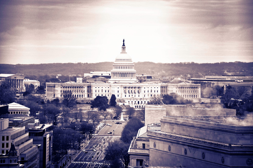 U.S. Capitol from the Old Post Office Pavillion Tower - Washington DC