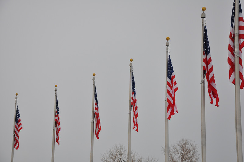 Flags at Washington Monument - Washington DC