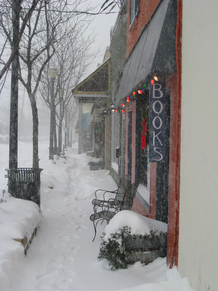 Antique Row in the Snow I - Kensington Maryland