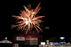 Post-game fireworks at Hadlock Field.