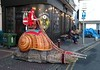 Woman on her giant snail, Hastings