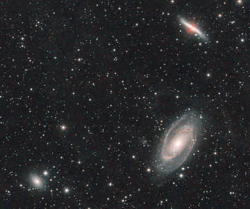 M81 and M82 | Bode's and Cigar galaxy (RGB / H-alpha / OIII)