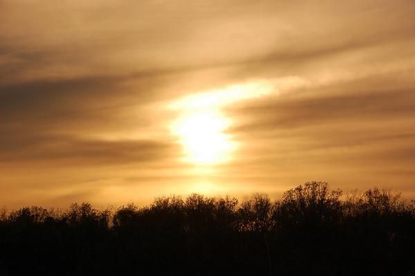 Coucher du soleil. Sunset.