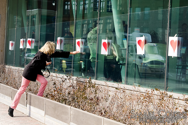 The Valentine's Day Bandit left his mark at the Portland Public Library.