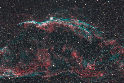 NGC6960   The Western Veil nebula (H-alpha / OIII / RGB)
