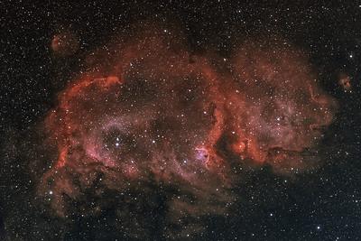 IC1848 | The Soul nebula (H-alpha / OIII)