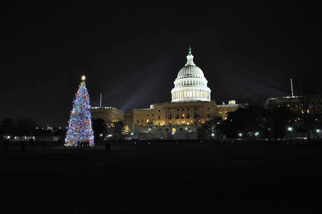 U.S. Capitol during the holidays, Washington DC