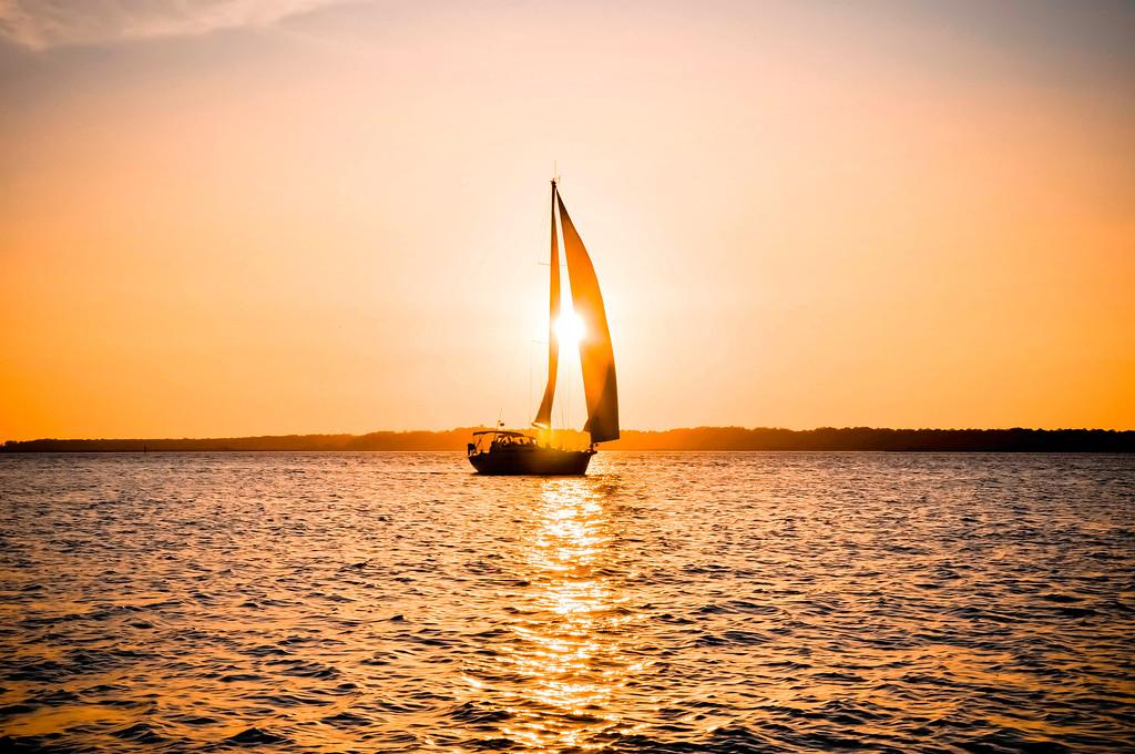 Sailing into the sunset - Hilton Head Island South Carolina