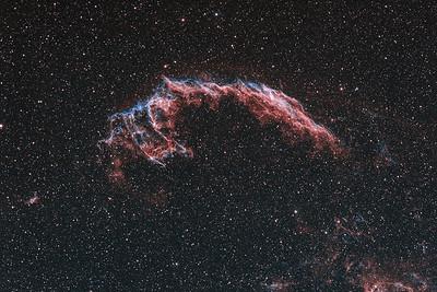 NGC6992 | The Eastern Veil nebula (H-alpha / OIII)