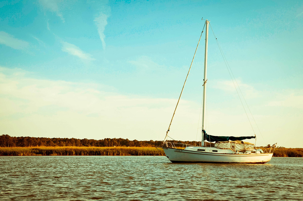 Anchored Sailboat - Hilton Head Island South Carolina