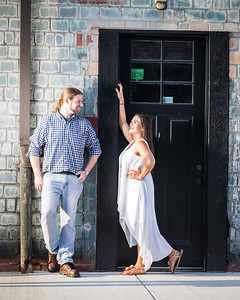 Tasha and Chris in Lexington's distillery district.