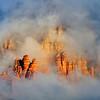 A clearing storm reveals the red rocks near Sedona, Arizona