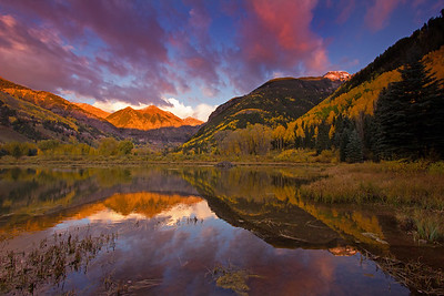 Ajax Autumn Reflection, Telluride Colorado