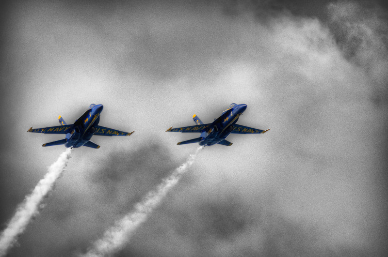I'm still looking through pictures from the Blue Angels event.   I thought it would be interesting to see this one processed in a different way.  Not sure If I like it or not...  What do you think?<br /> <br /> from the Photoblog: www,graffitivisuals.com