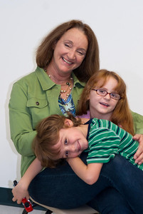Michelle McKinzie and Grandchildren, Portrait Session, Kingwood First Baptist Church, July 26, 2011