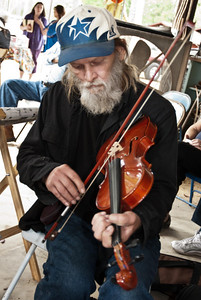 Unidentified Fiddler, Syrup-Making and Music Event, Hardin County, Texas, November 12, 2011