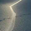 Skinnende issprekk<br /> Linnesstranda, Lier 26.12.2001