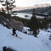 Tim skiing down Emerald Chutes